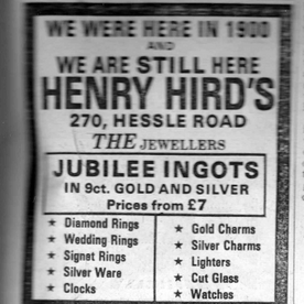 Advert from 1977